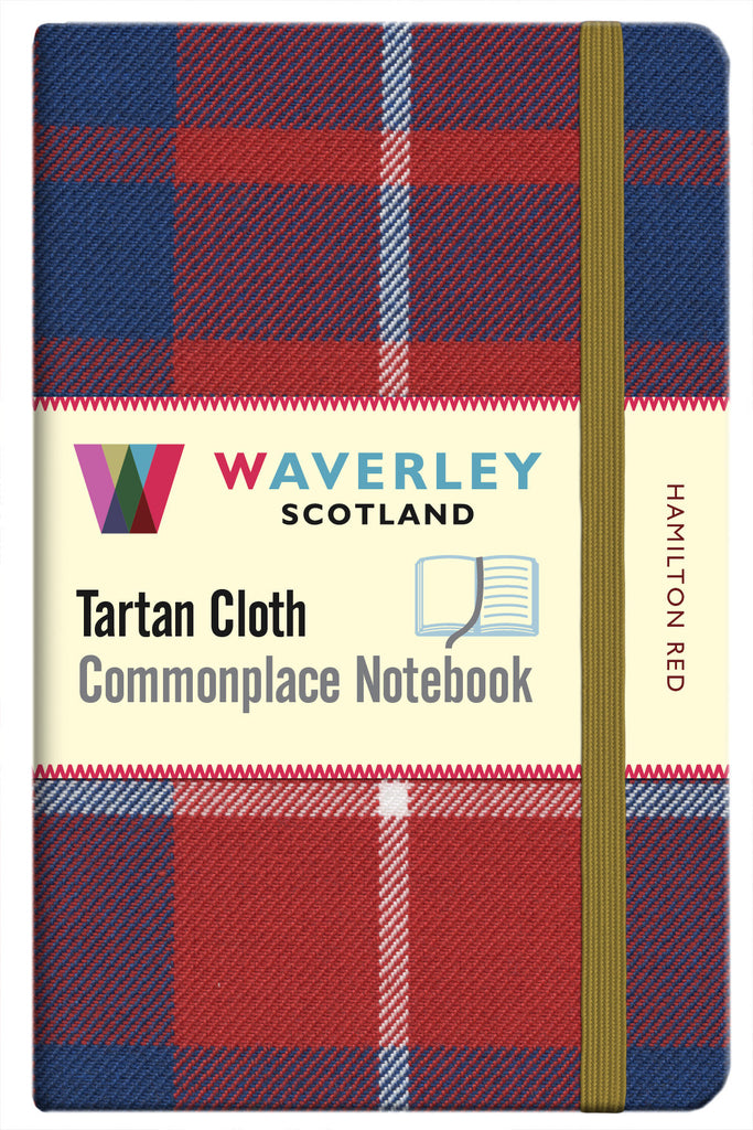Tartan Cloth Notebook- Hamilton Red
