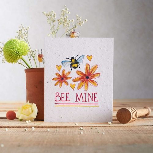 Bee Mine Seed Valentine's Card