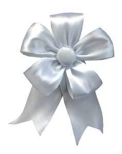 Ribbon Bow - White
