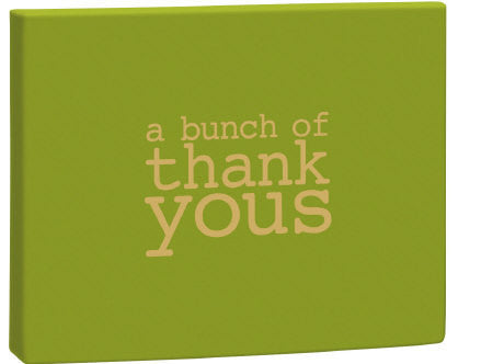 A Bunch of Thank Yous Notecards Green Box Pack of 8