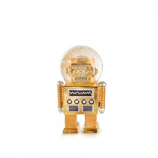 The Robot Gold Snow Globe