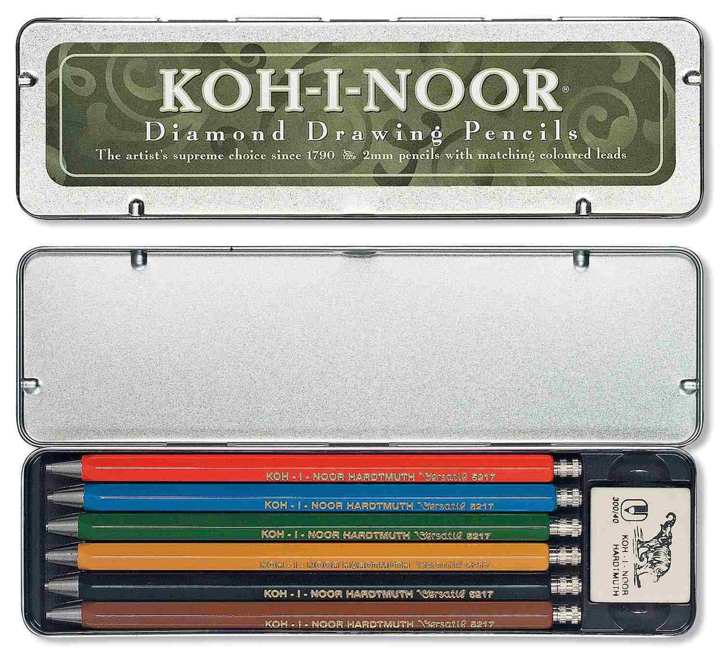 Koh-I-Noor Set of 6 Coloured Mechanical Pencils
