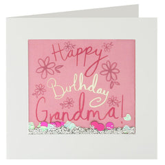 Happy Birthday Grandma Shakies Card