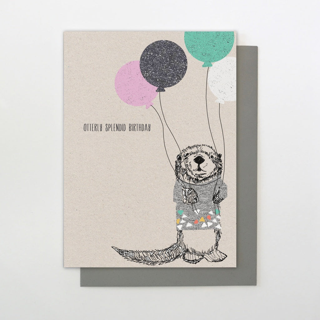 Otterly Splendid Birthday Birthday Card