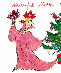 Quentin Blake Wonderful Mum Christmas Card