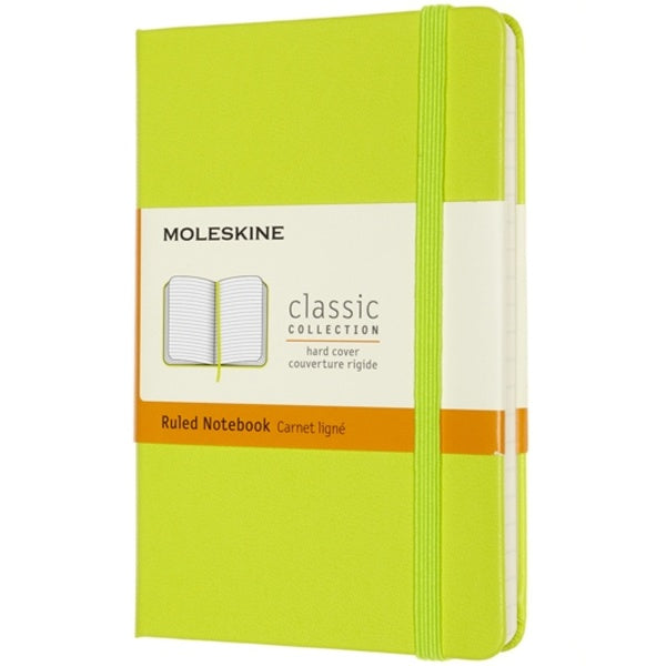 Moleskine Large Hardback Ruled Notebook Lemon Green