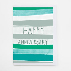 Happy Anniversary Stripes Card