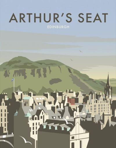 Arthur's Seat Tea Towel