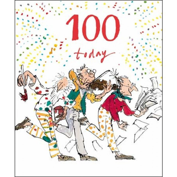 100 Today Quentin Blake Birthday Card