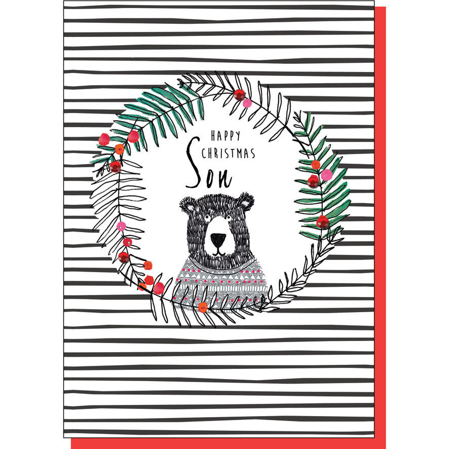 Son Bear Christmas Card