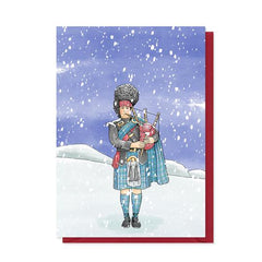 Tartan Piper Christmas Card