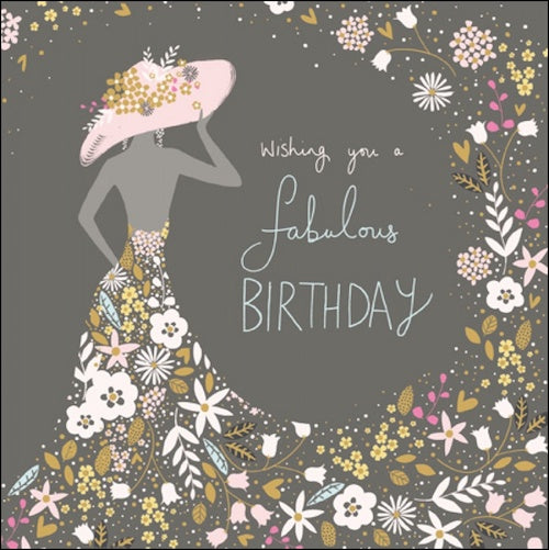 Flower Lady Birthday Card