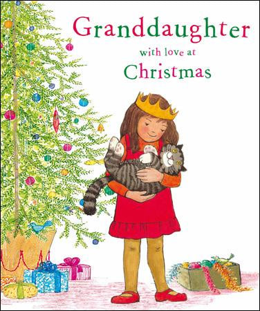 Grandaughter Xmas with Mog Christmas Card