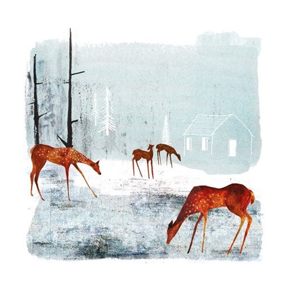 Woodland Clearing Deer Card