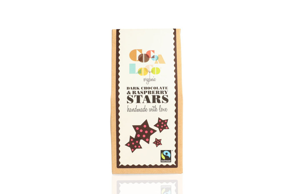 Dark Chocolate and Raspberry Stars
