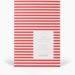 Vita Softcover Notebook Small Bright Red by Notem
