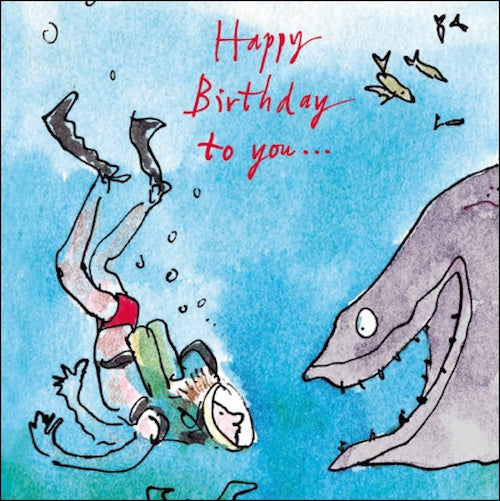 The Diver Quentin Blake Birthday Card