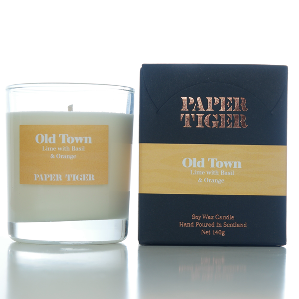 Paper Tiger Old Town Lime, Basil & Orange Medium Candle