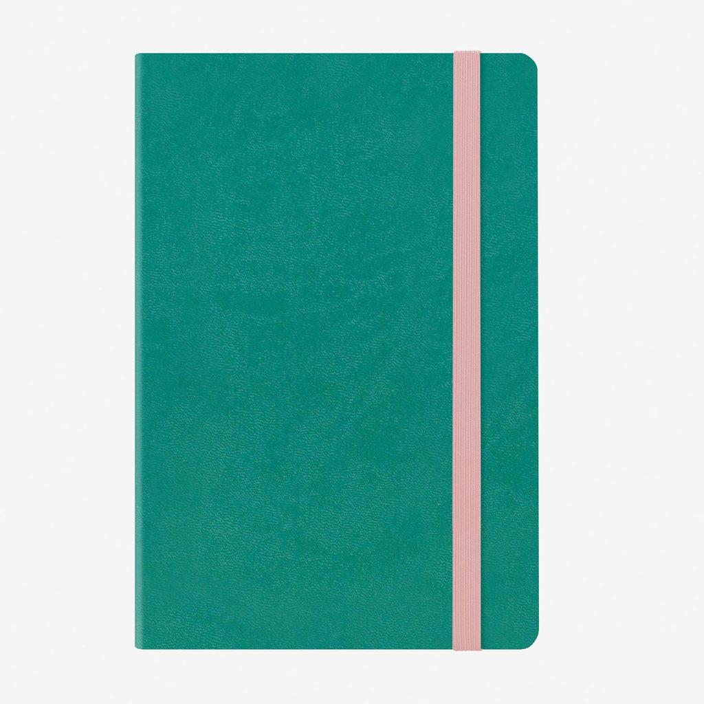 Medium Weekly Diary With Notebook 12 Month 2020 - Turquoise