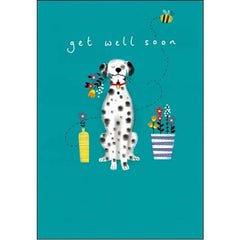 Get Well Soon Dalmatian Card