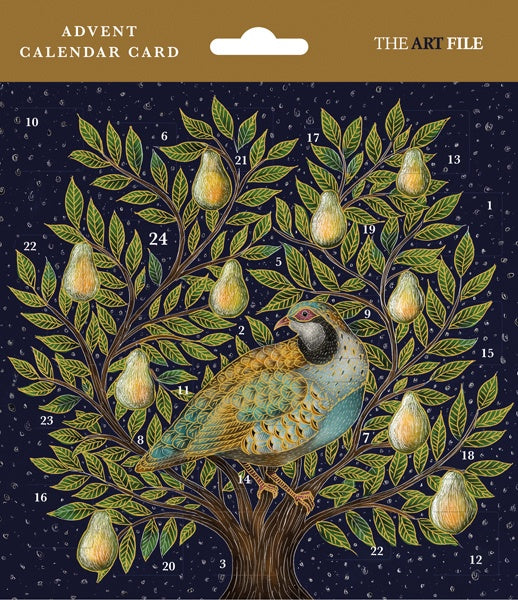 Partridge In A Pear Tree Advent Card