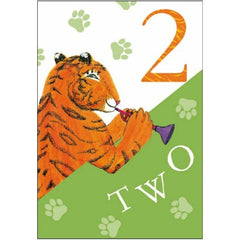 The Tiger who Came to Tea 2nd Birthday Card