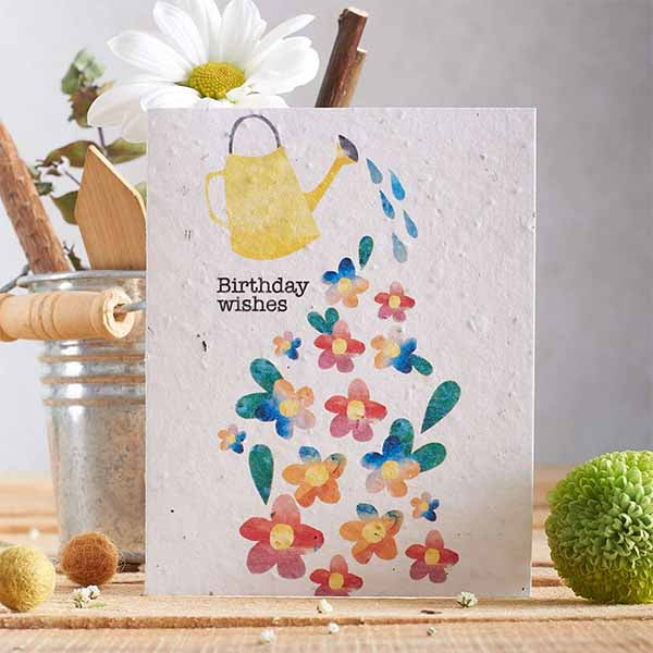Birthday Watering Can Seed Card