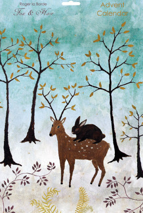 Wildlife Christmas Cards.Winter Deer Rabbit Christmas Cards Pack Of 5