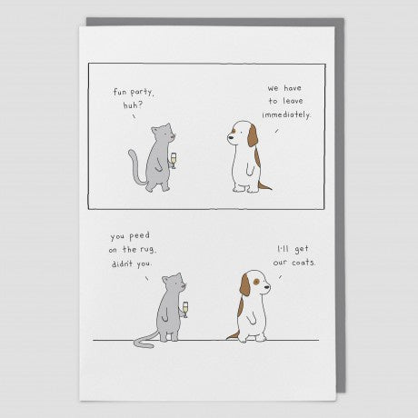 Dog & Cat Party Card