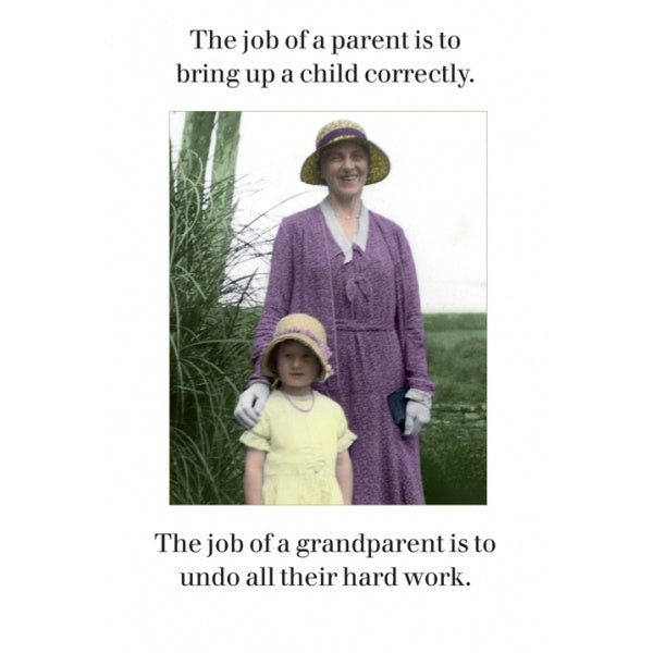 Grandparent's Job Card