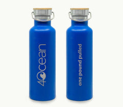 4Ocean Water Bottle Blue