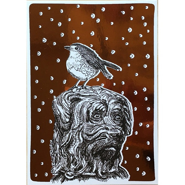 Robin And Bobby Christmas Foiled Card