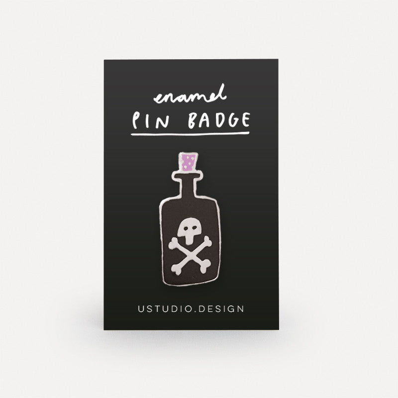 Poison Bottle Pin Badge