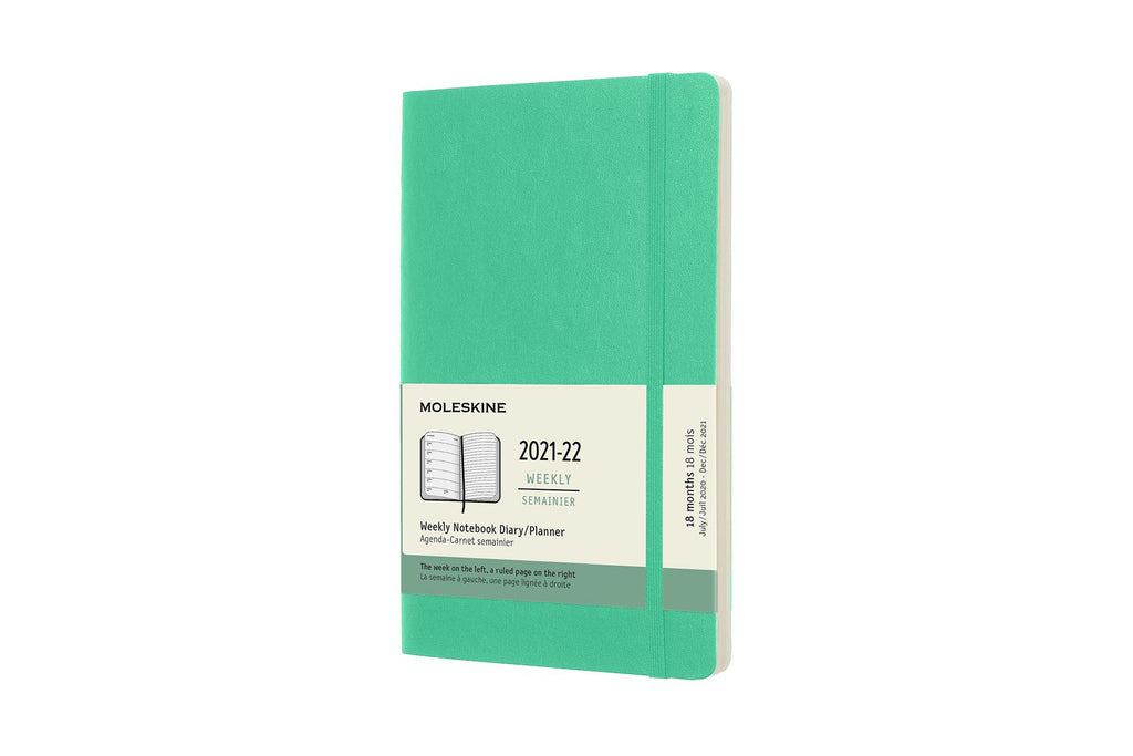 2021-22 Weekly Planner Large Softcover Ice Green