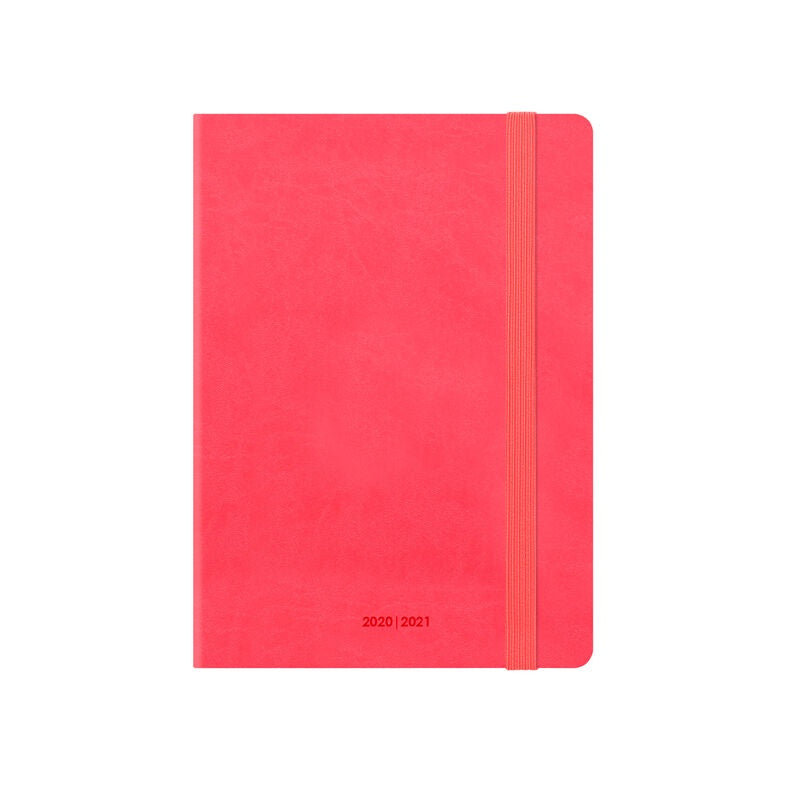 Small Weekly Diary 2020/ 2021 Neon Coral