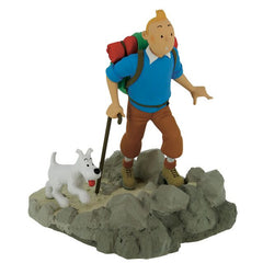 Tintin and Snowy Hiking Resin Model