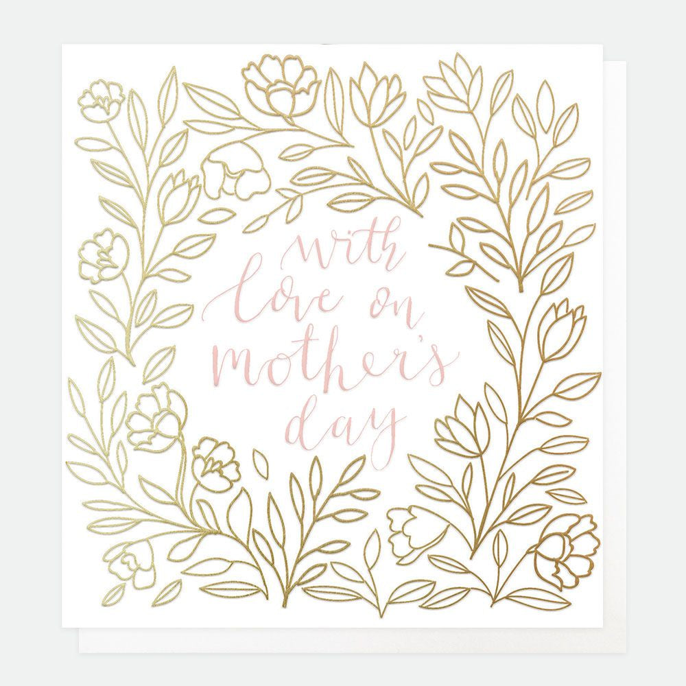 With Love On Mothers Day Foil Card