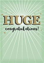 Huge Congratulations Card