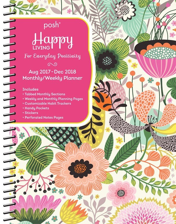 2017/2018 Posh Happy Living Diary