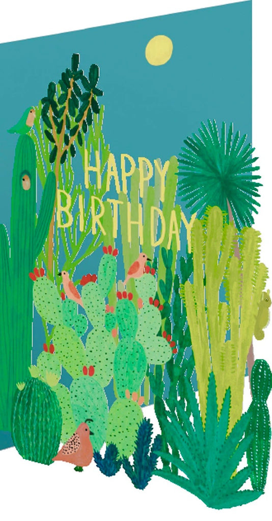 Birthday Cacti Lasercut Card