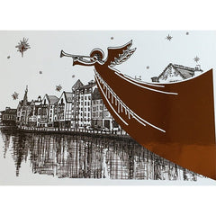 Angel The Shore Christmas Foiled Card