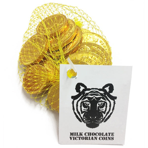 Paper Tiger Milk Chocolate Coins in a Net