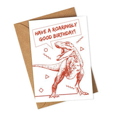 3D Dinosaur Birthday Card