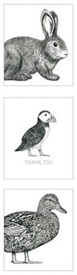 Hanging Pack of 12 Bunnies Thank You Cards