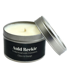 Paper Tiger Auld Reekie Cedarwood, Cinnamon, Cloves & Orange Small Candle Tin