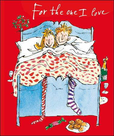 One I Love Lie In Christmas Card