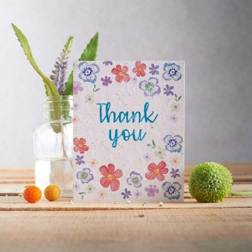 Thank You Flowers Seed Card