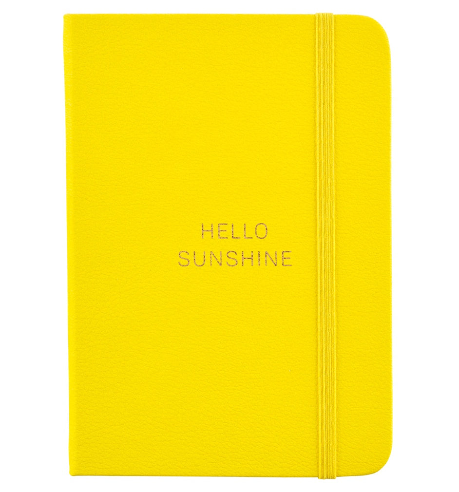 Busy B Busy Life Notebook A6 Yellow Faux Leather