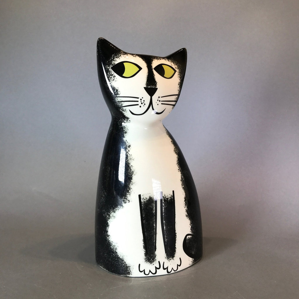 Ceramic Black and White Cat Money Box