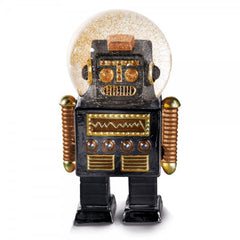 The Robot Black Snow Globe